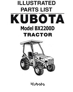 Kubota Bx2200 Tractor Illustrated Parts Manual Bx2200d On Cd
