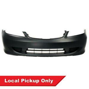 New Front Primed Bumper Cover For 2004 2005 Honda Civic Sedan Coupe Ho1000216