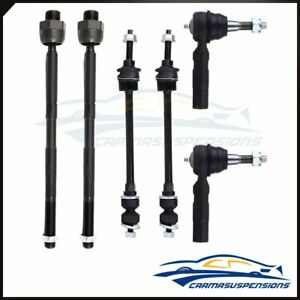 6pc Front Inner Outer Tie Rods Sway Bar Parts Fits 2002 2005 Dodge Ram 1500 4wd