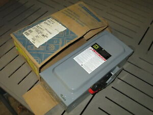 Nos Square D Fusible Safety Switch Disconnect H361n 30a 600v