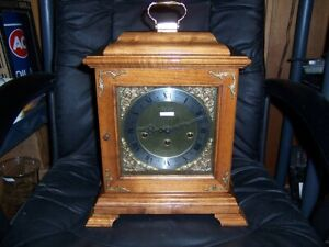 Seth Thomas Bracket Mantel Clock 8 Day Westminster 1 4 Chime West Germany