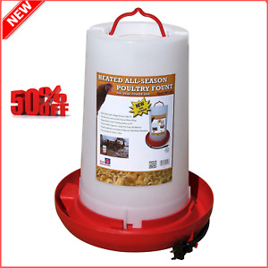 Farm Innovators Heated Electric Chicken Bird Poultry Water Dish Bowl Waterer New