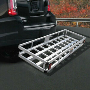 Aluminum Hitch Carrier Truck Luggage Basket Rack Durable Vehicle Storage Cargo