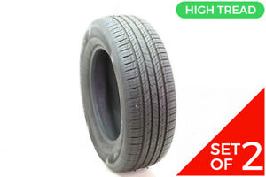 Set Of 2 Used 235 65r17 Hankook Dynapro Hp2 104h 9 5 10 32