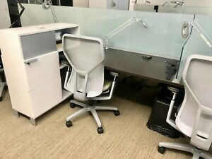 Modern Office For A Great Price Allsteel 5 Cubicles Benching Stations