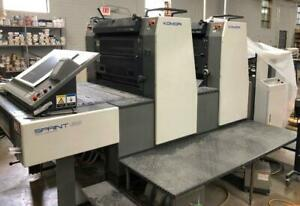 2002 Komori Gs228 Straight Printing Press 2 Color 28 Inch Autoplate