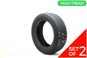 Set Of 2 Used 225 55r17 Michelin Defender T h 97h 8 32