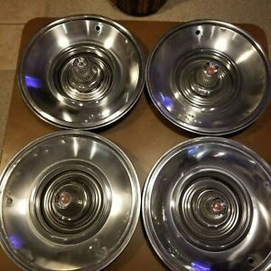 1963 Chrysler Imperial Hubcap Rim Wheel Cover Hub Cap 15 Used Set Of 4