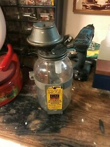 Late 40s 50s Vintage Gm Trico Windshield Washer Jar And Inserts Mint Condition