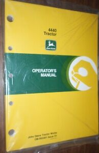 John Deere New Owner Operator Manual 4440 Tractor Om r65461 Issue D1