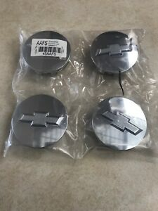 New Oem 83mm 3 25 Chrome Button Center Caps For Chevy Non Steel Wheels