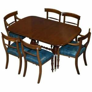 Rrp 9100 Brights Of Nettlebed Burr Walnut Regency Extending Dining Table Chairs