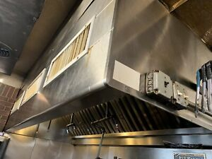 10 Foot Exhaust Hood Vent Commercial Restaurant Kitchen Stainless Steel