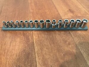 16 Pcs Craftsman 1 4 3 8 Drive Socket Set Metric 6pt 12 Pt