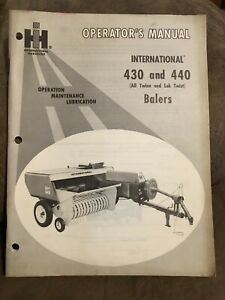 International 430 And 440 Balers Operator s Manual