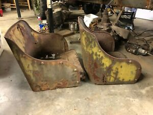 1942 Wc 59 Bomber Seat Pair Geunine Wwii Patina For Rat Rod Or Power Wagon