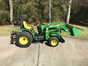 2007 John Deere 2520 4x4 Compact Utility Tractor Loader Rotary Mower 300 Hrs