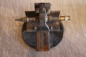 Vintage Schrader Pneumatic Foot Switch mounted With Quick Connects