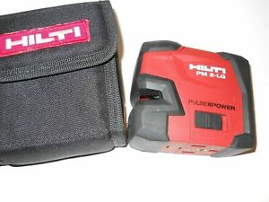Very Nice Hilti Pm 2 lg Green Line Laser Level Self leveling In Bag