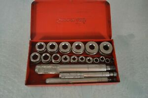 Snap On A157 1 A157 2 A157 3 Bushing Driver Drift Set Kit W Case Complete