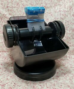 Vintage Rolodex Card Filing System Model No Nsw 24c With Cards Swivel Base Usa
