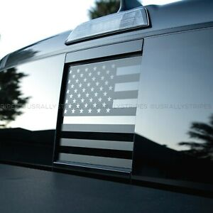 Rear Window Slider American Flag Pre Cut Vinyl Decal For 2016 2020 Toyota Tacoma