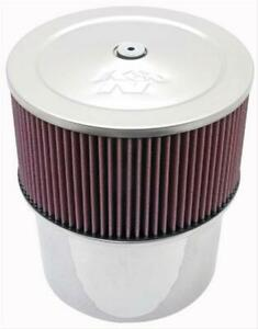 K N Velocity Stack Air Cleaner 9 Dia Round Red Cotton Gauze Element 58 1210