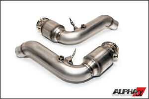 Ams Alpha Performance Downpipe With Catalytic Converter For 2012 2018 Bmw M5 M6