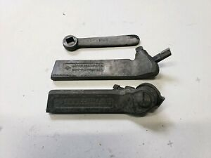 3 Peice Tool Holders J h Williams Threading Tool Turning W Wrench South Bend