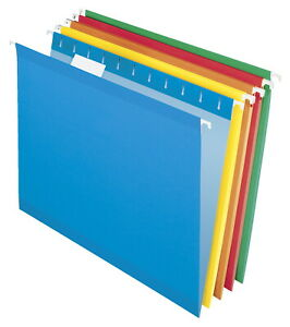 Pendaflex Reinforced Hanging Folders 1 5 Cut Letter Assorted Colors Pack Of