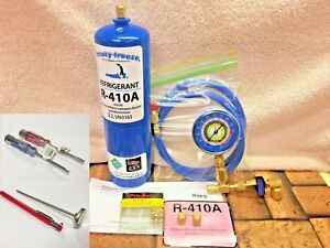 410a R410a R 410a Refrigerant Refill Kit Gauge Charging Hose Instructions A5