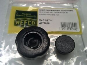 Refco For 3 4 way Manifolds Replacement Knob Black Insert M4 7 set n