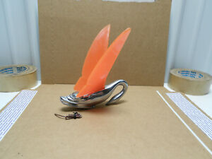 Real 1940s Packard Swan Hood Ornament W Orig Lighted Lucite Wings Chevy Ford