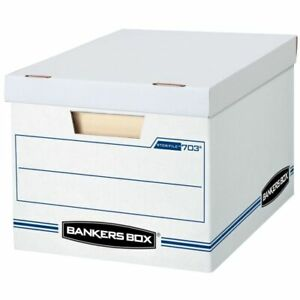 Bankers Box Stor file 15 X 12 X 10 Basic Strength Storage Boxes 10 pk