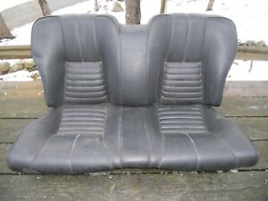 Alfa Romeo Alfetta Gt Used Original Set Of Black Vinyl Rear Seats