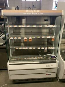 Turbo Air Tom 40m 39 Open Air Grab And Go Refrigerator Display Case Cooler Used
