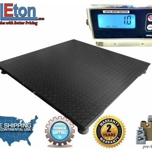Optimascale Op 916 Industrial Digital Floor Scale Warehouse Shipping