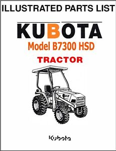 Kubota B7300 Hsd Tractor Illustrated Parts Manual Exploded diagrams