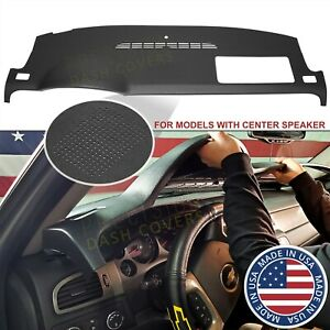 07 14 Denali Silverado Ltz Dash Cover Cap Skin W speaker Holes In Ebony Black