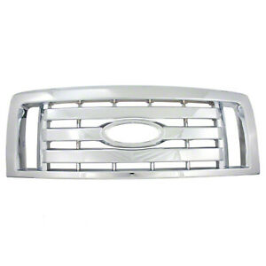New Chrome Grill Grille Overlay Insert For 2009 2012 Ford F150 Xl Stx Fx4