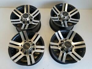Set 4 Mb Matted Black 8 Lug Rims 16 16x8 Wheels And Tires