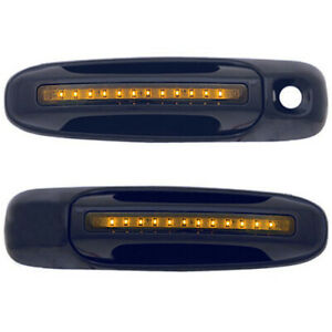 New Front Amber Led Black Door Handle Set For 02 06 Dodge Ram Ch1310121 Smoked