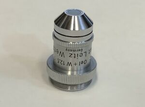 Leitz 12 5x 0 25 W Water Oil Immersion Microscope Objective 215mm