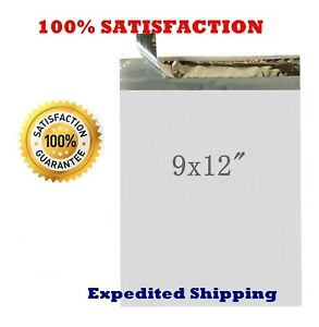 1 1000 9x12 Poly Mailers Self Seal Plastic Bags Envelopes 2 2 Mil 100 New