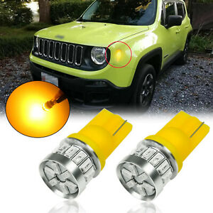 Amber 18 smd T10 194 2825 Led Side Marker Light Bulbs For Jeep Renegade 2015 19
