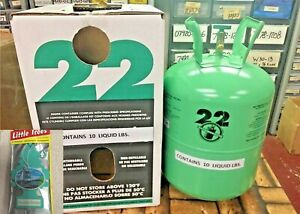 R22 Refrigerant 10lb Cylinder Virgin Pure made In Usa Free Shipping Kit 707