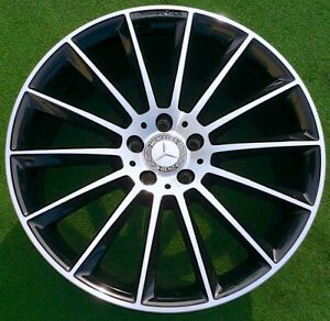 Factory Mercedes benz E53 Wheels Set 4 Genuine Oem Amg Black 20 Inch Perfect E63