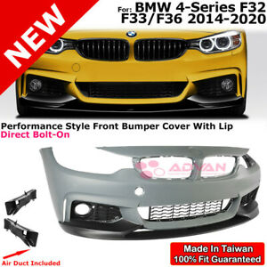 Front Bumper Cover Lip Performance Style For 14 20 Bmw F32 F33 F36 4 Series