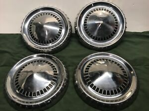 1960 1961 1962 Mercury Comet Dog Dish Hubcaps 9 5 Inch Set2