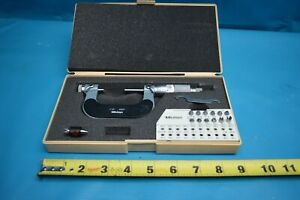 Used Mitutoyo 126 138 Screw Thread Micrometer 1 2 W anvils In Case
